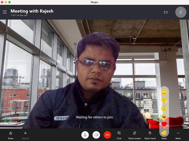 Verwenden Sie Hintergrundeffekte in Skype