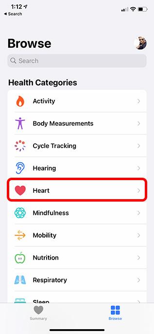 Herz Kategorie Gesundheit App