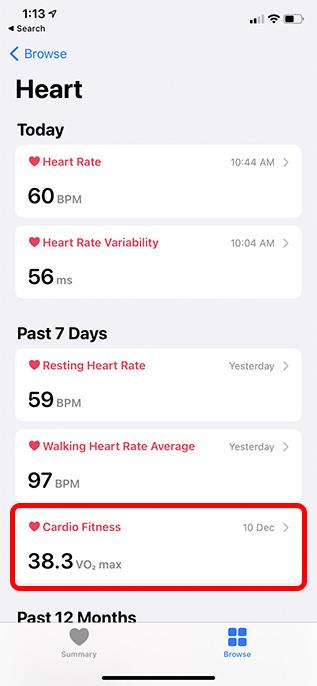 Cardio-Fitness-Bereich in der Herzgesundheit