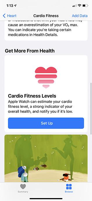 Cardio Fitness iPhone einrichten