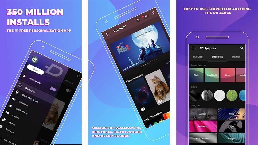 Zedge ist eine der besten kostenlosen Android-Apps für Android