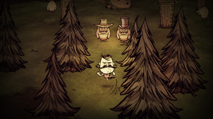 Wolfgang in one of the best crafting games, Don't Starve