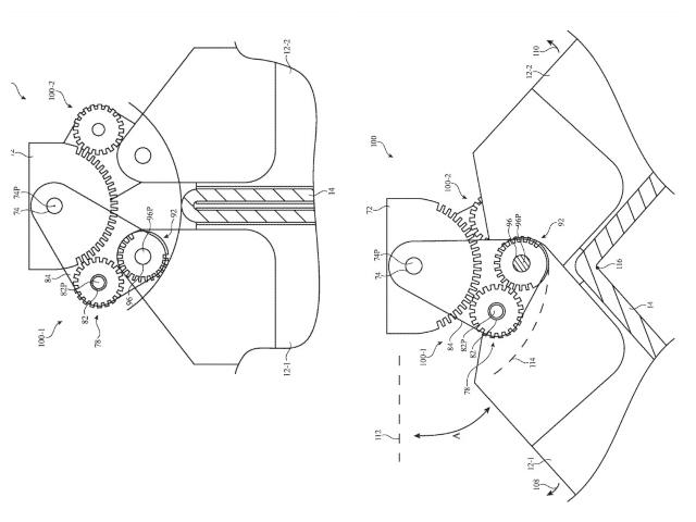 Apple Patent Getriebe Scharnier faltbares iPhone