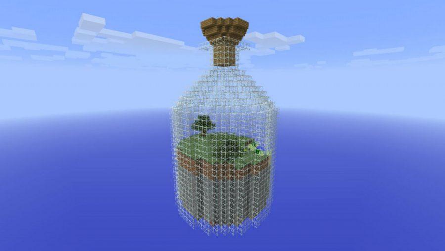 Minecraft-Karten - Welt im Glas