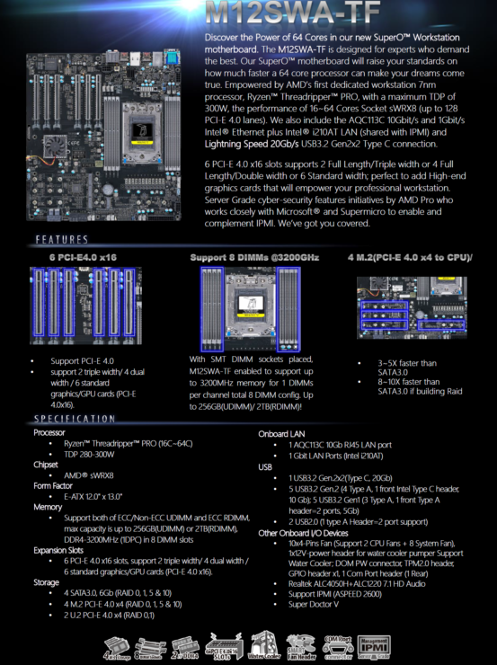 Supermicro-Wrx80-Workstation-Motherboard