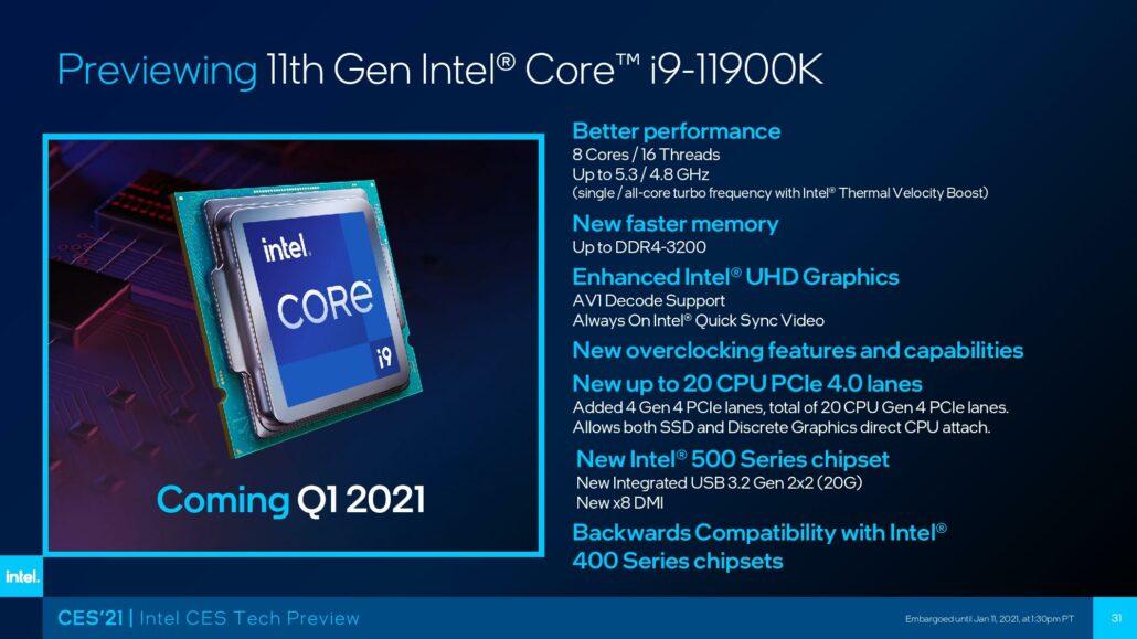 Intels gesamte Rocket Lake-Desktop-Produktreihe der 11. Generation zur Vorbestellung angeboten - Core i9-11900K für 600 US-Dollar, Core i7-11700K für 485 US-Dollar, Core i5-11600K für 310 US-Dollar 2