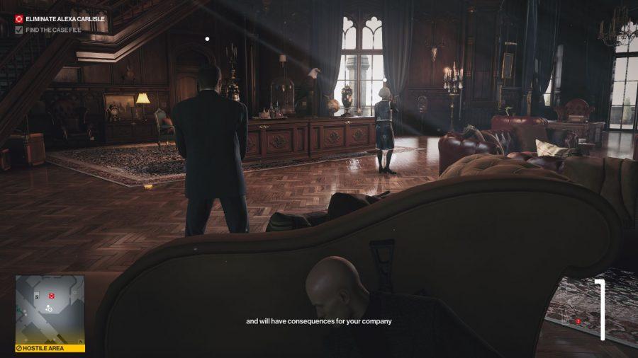 Hitman 3 Dartmoor Silent Assassin Suit Only, Carlisles Büro
