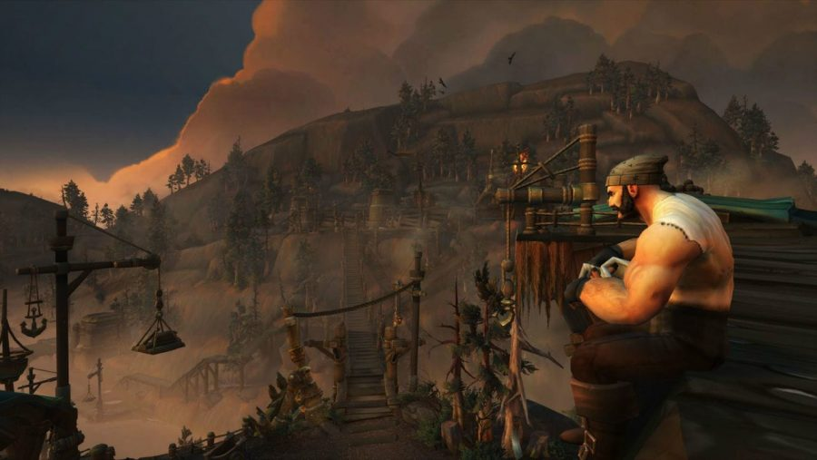 An evocative landscape in World of Warcraft, one of the best MMOs