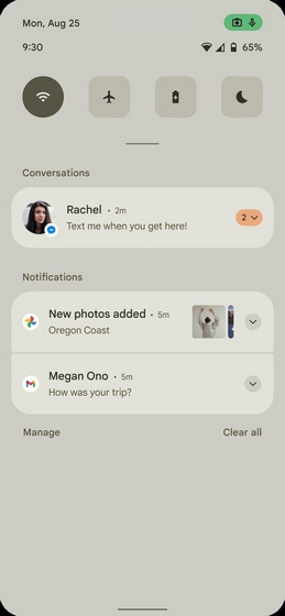 Frühes Android 12 Mockup