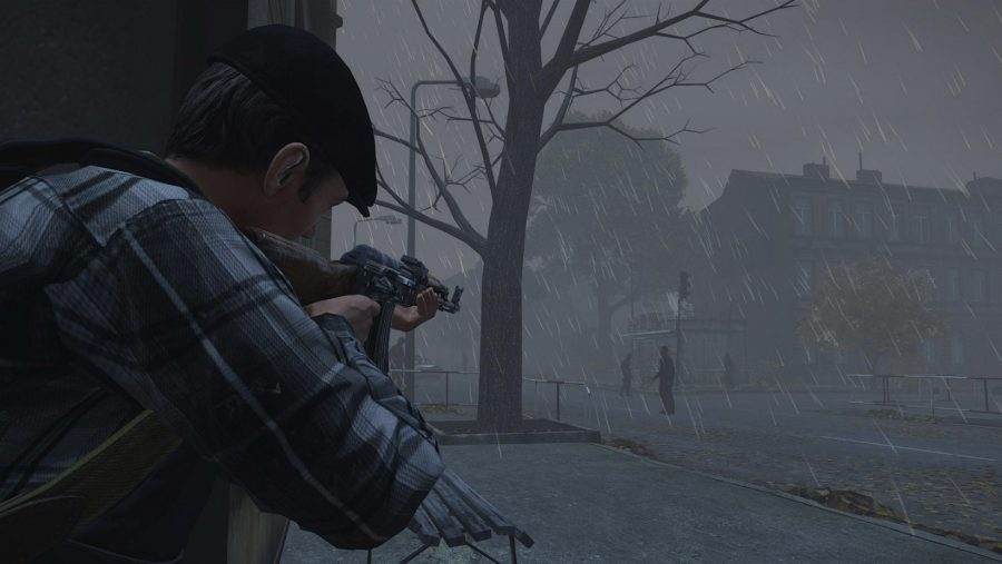 A gloomy landscape in DayZ, one of the best zombie games