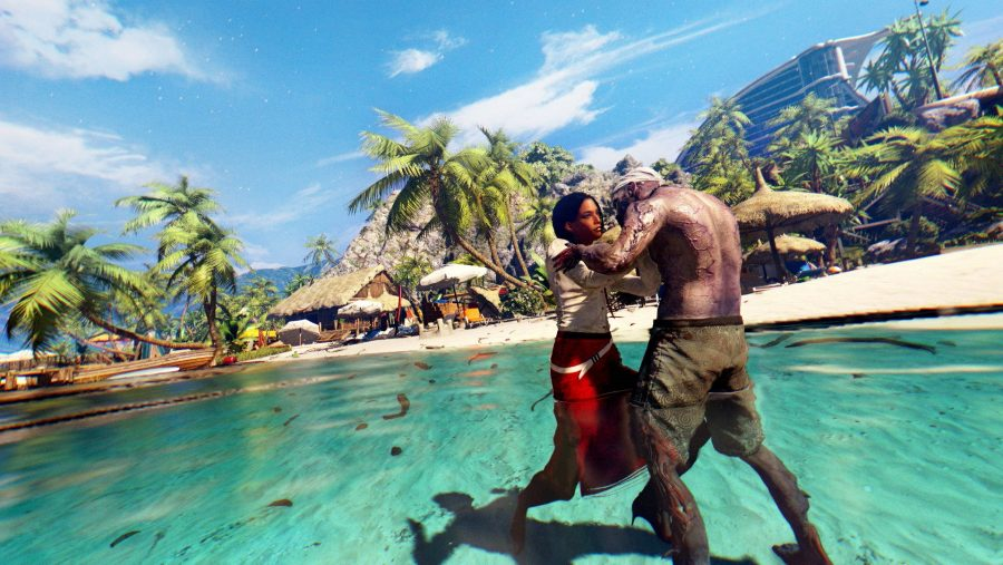 A tussle on the beach in one of the best zombie games - Dead Island