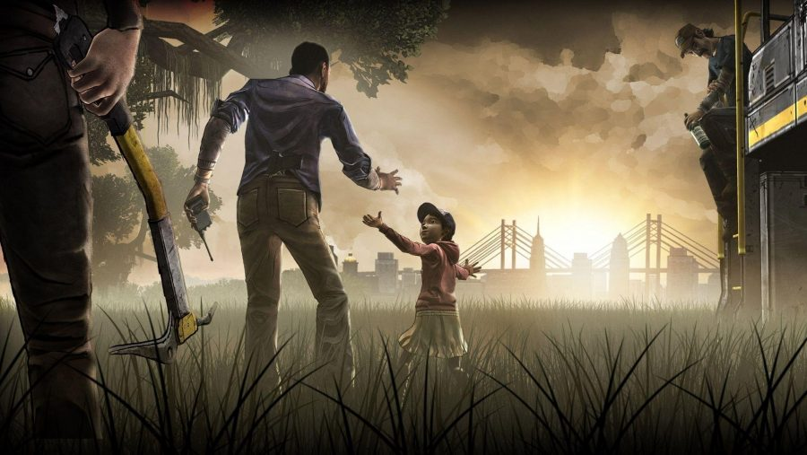 Characters from The Walking Dead, one of the best zombie games