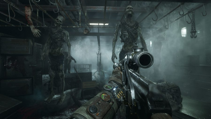 Unsettling skeletons in one of the best horror games, Metro Exodus
