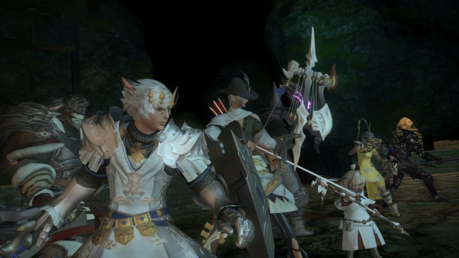 A squad of beautiful characters in Final Fantasy XIV, one of the best new MMOs