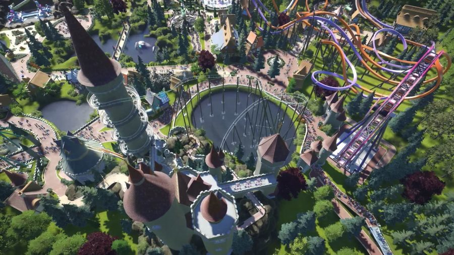 Winding rollercoasters in Planet Coaster, one of the best management games