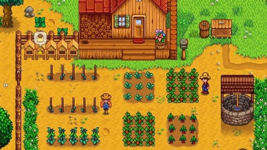 A well tended farm in one of the best management games, Stardew Valley
