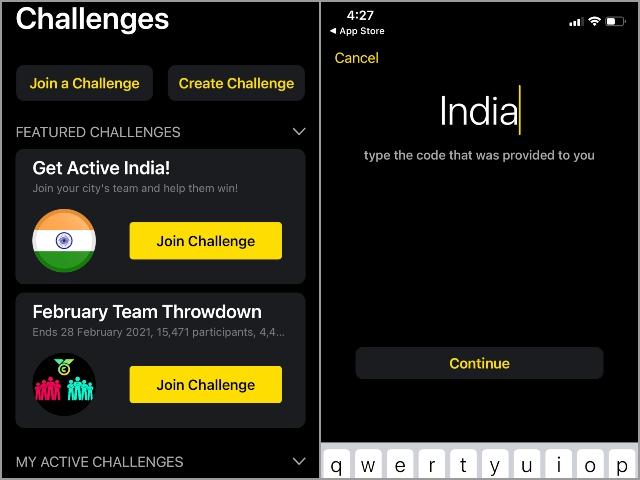 Apple Watch Holen Sie sich aktive Indien Herausforderung