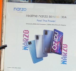 Realme Narzo 30 Pro durchgesickertes Poster