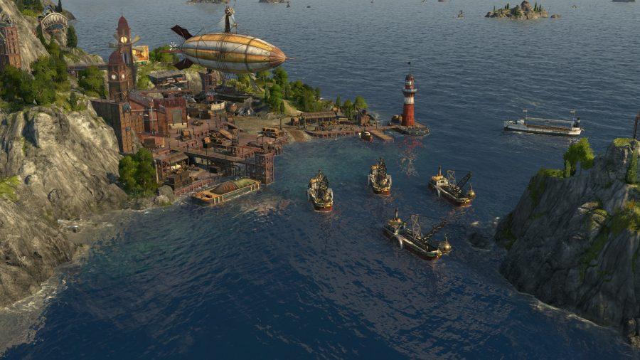 ein kleiner Hafen mit einigen Booten