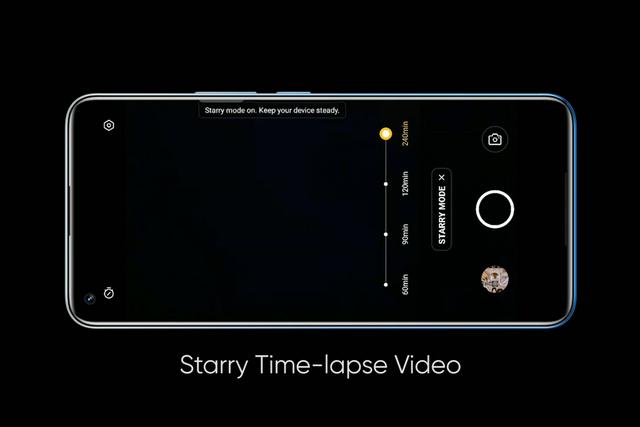 Realme 8 Pro Sternenzeitraffer-Video