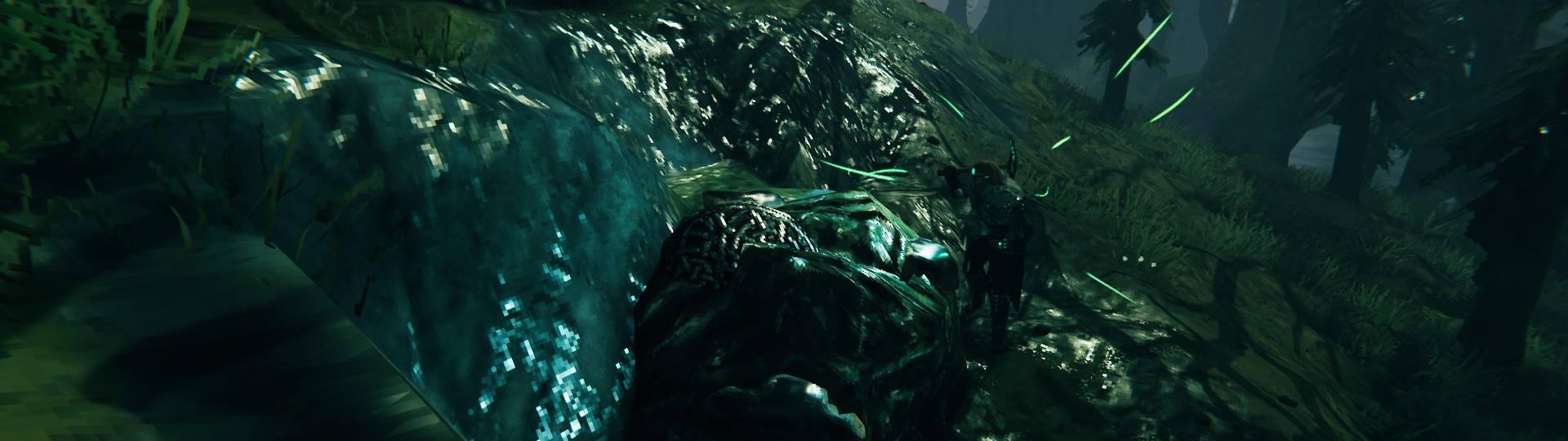 Valheim Iron Swamp vergrabene Scheibe