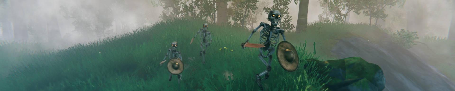 Valheim Der Wald bewegt Base Raids Guide Skelette