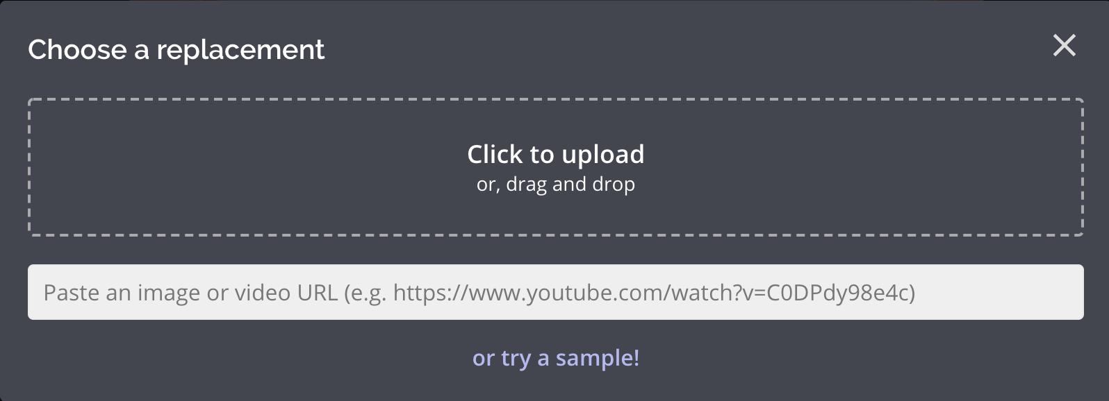Ein Screenshot des Kapwing-Upload-Bildschirms.