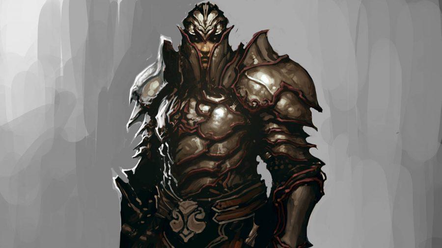 Der Templer-Anhänger aus Diablo 3 ist mit Schuppenpanzern bedeckt.