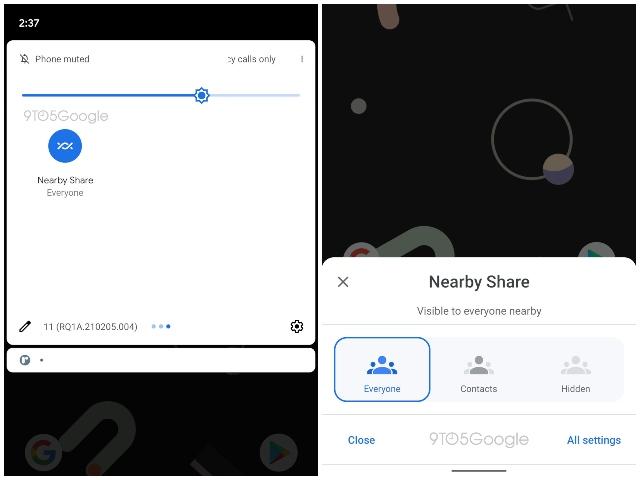 Google in der Nähe Teilen Sie neue Funktionen