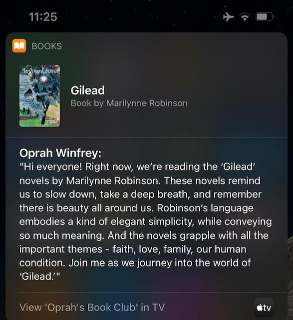 Siri Partnerschaft mit Oprah für Buchempfehlung
