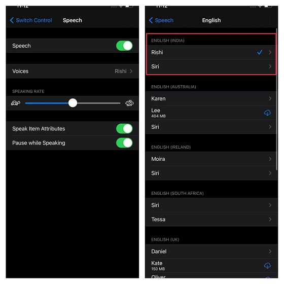 Customize Speech for Switch Control