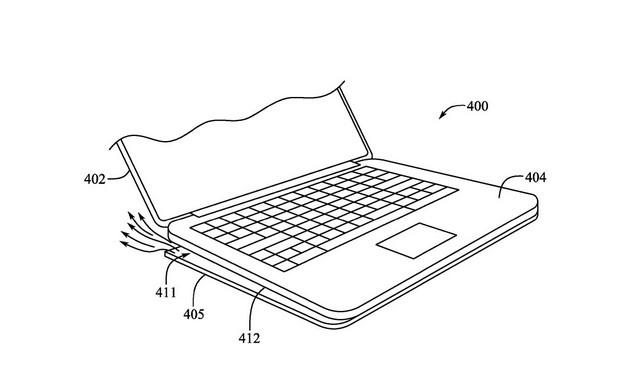 Macbook mit ausfahrbaren Füßen