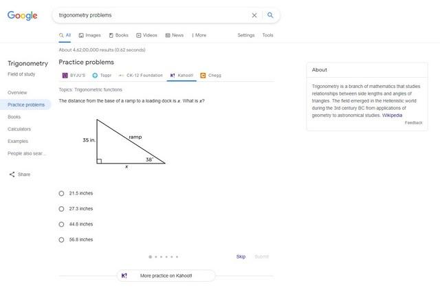 Google-Suche nach neuen Funktionen