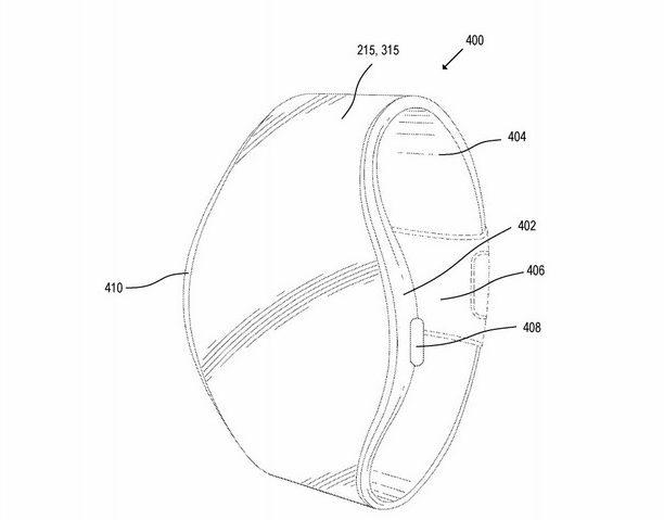 Neu gestaltete Apfeluhr mit flexiblem Display
