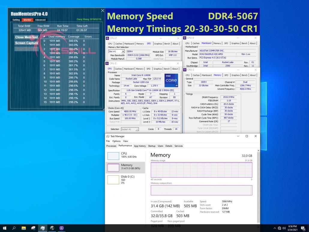 G.Skill setzt extrem schnellen DDR4-Speicher für Intels Z590-Plattform mit Geschwindigkeiten von bis zu 5333 MHz CL22 3 frei