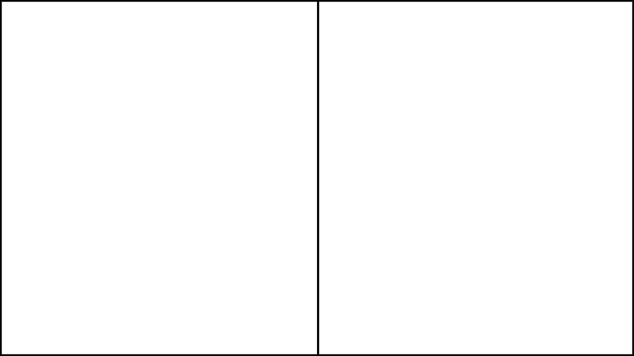Eine 2-Panel-Vorlage für Web-Comics im Seitenverhältnis 16: 9.
