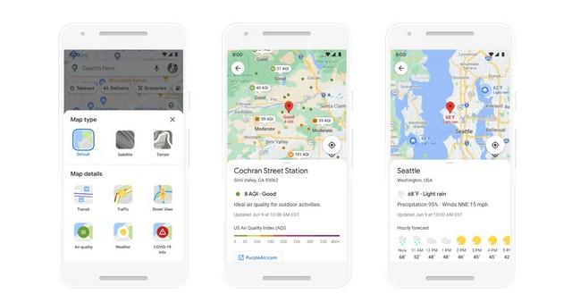 Neue Funktionen von Google Maps