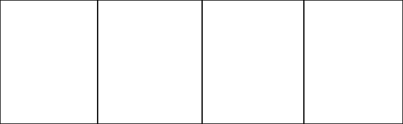Eine Comic-Vorlage mit vier Feldern im Seitenverhältnis 13: 4.