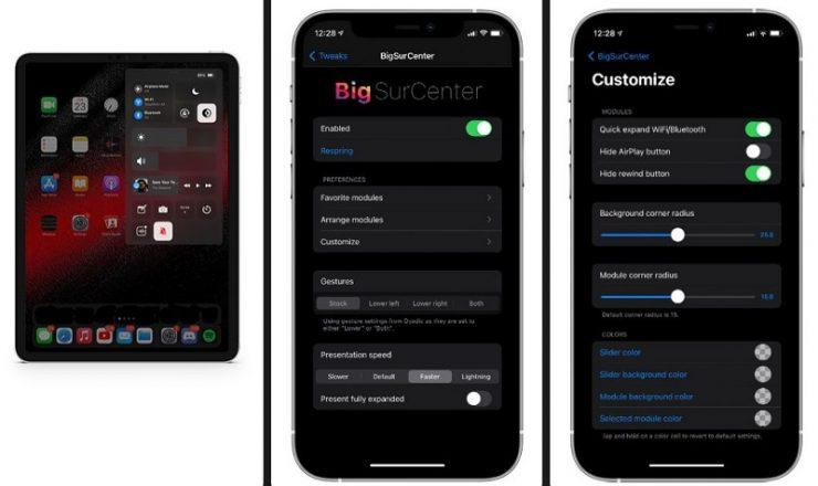 BigSurCenter Jailbreak Tweak für iPhone und iPad