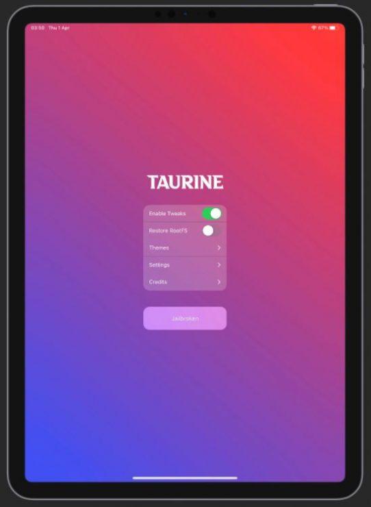Taurine Jailbreak Tool für iOS 14 bis iOS 14.3 auf iPhone und iPad