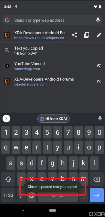 Android 12 iOS 14 Benachrichtigungen zum Zugriff auf die Zwischenablage 2