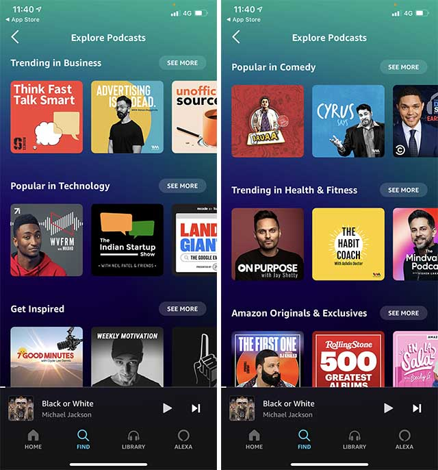 Amazon Musik Podcasts