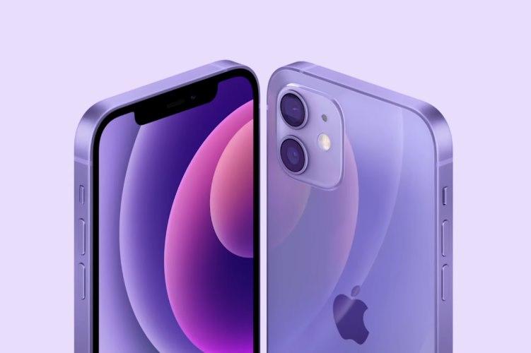 Apfel iPhone 12 lila Farbe