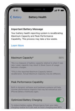 Verwenden Sie die Neukalibrierung des Akkus in iOS 14.5