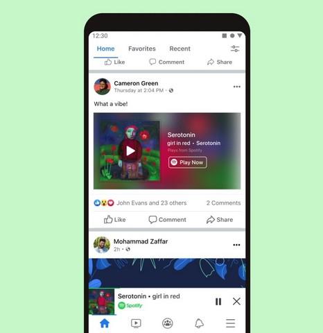 Spotify Mini-Player in Facebook