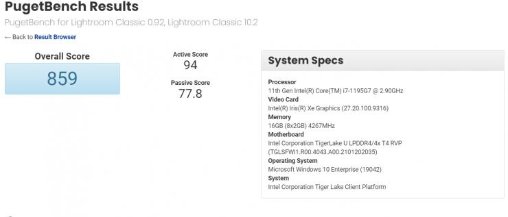 Intel Core i7-1195G7 Tiger Lake-U CPU aktualisieren