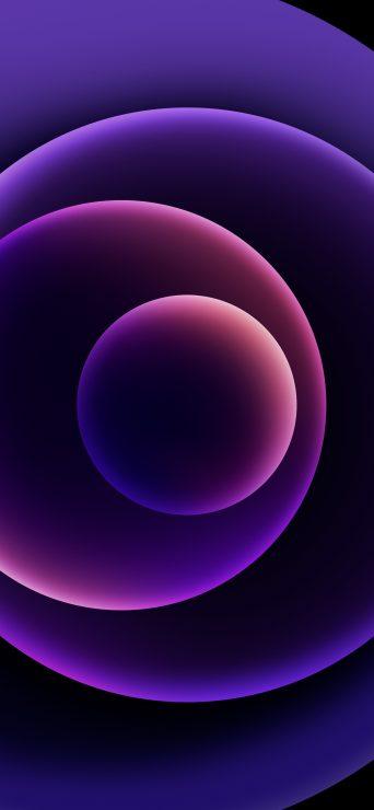 iPhone-12-Wallpaper-dunkel-lila