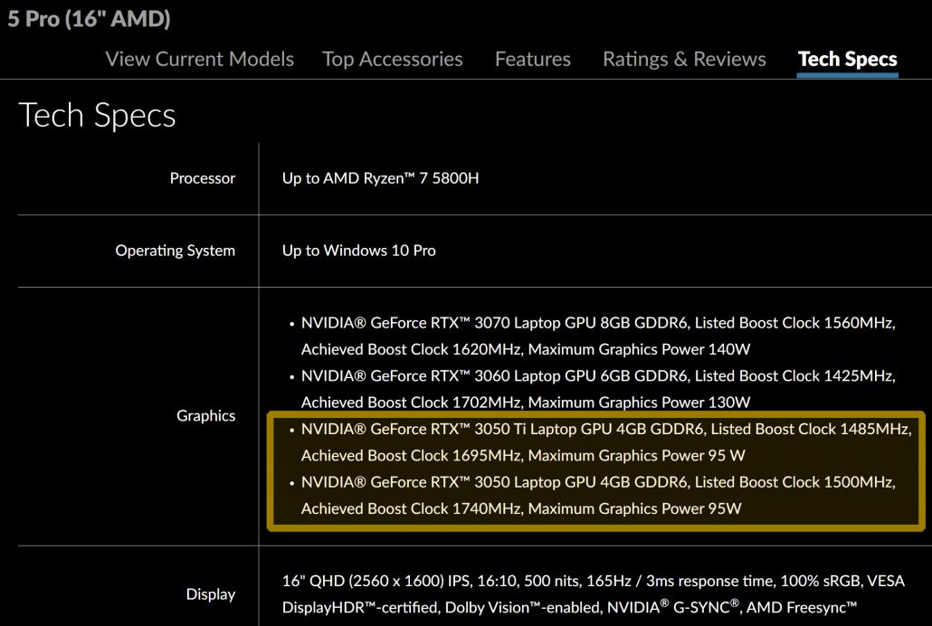 NVIDIA GeForce RTX 3050 Ti & GeForce RTX 3050 Ampere-Laptop-Gaming-GPUs für Einsteiger