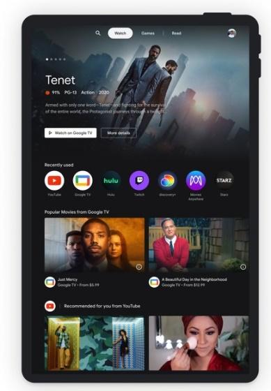 Google Android Tablet - Unterhaltungsraum