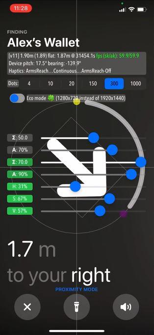 Aktivieren Sie den versteckten Entwicklermodus in der Präzisionssuche auf AirTag